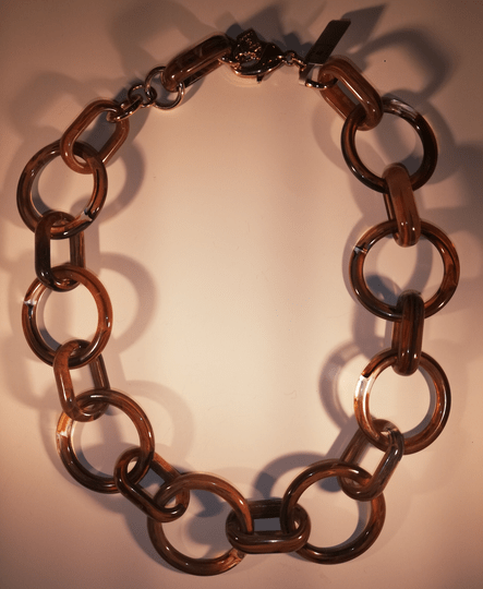 SALE Camps & Camps Collier burgundy loops & hoops chain (Bruin))