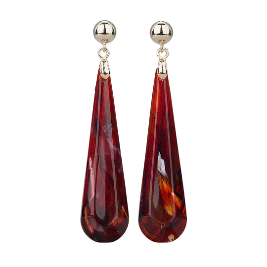 Camps & Camps Oorhangers burgundy dashing drops (rood)