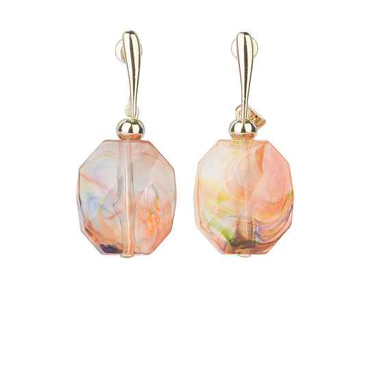 Camps & Camps Oorhangers kaleidoscope facetted stone earrings