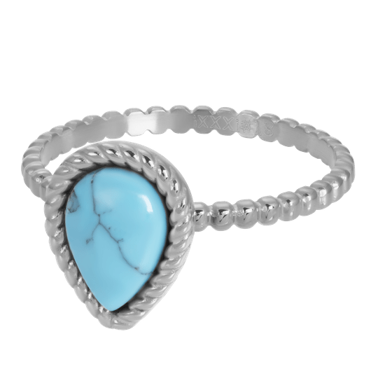iXXXi Jewelry vulring 2mm Magic Turquoise Zilver
