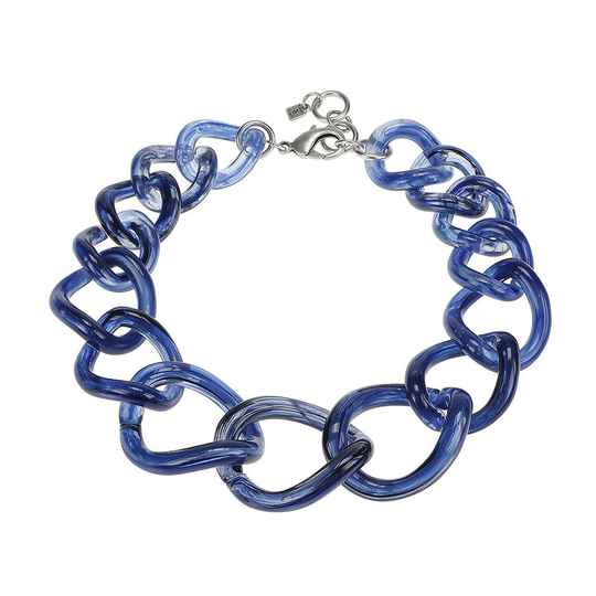 Camps & Camps Collier totally vogue denim chain ketting (blauw)