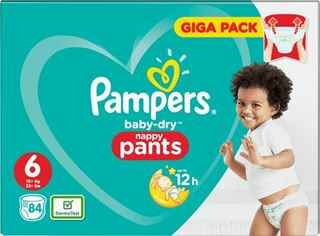 Pampers Baby-Dry 6 Nappy Pants - 84 stuks