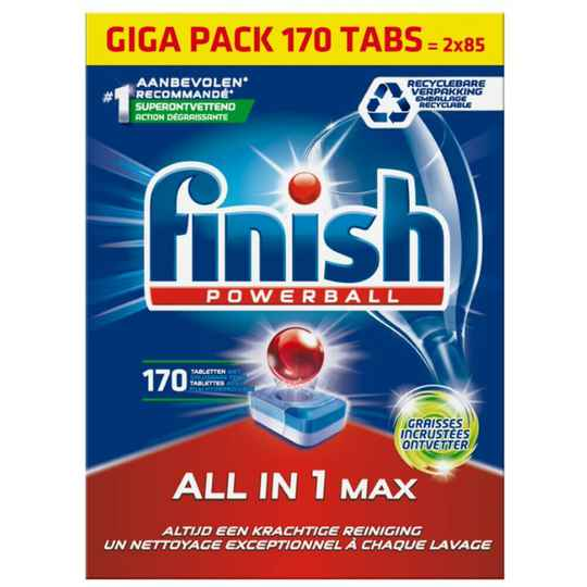 Finish All-In-One Grease Fighter - 170 Tabs