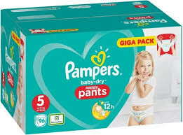 Pampers Baby-Dry 5 Nappy Pants - 96 stuks