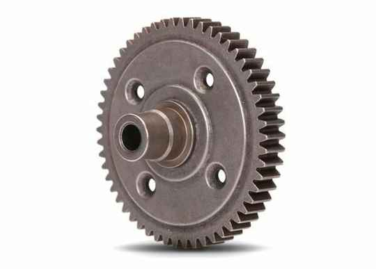 Spur gear, steel, 54-tooth (0.8 metric pitch, compatible with 32-pitch)
