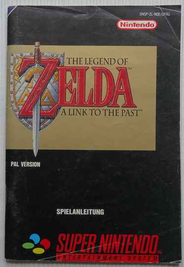 Super Nintendo - Legend of Zelda, The: A Link to the Past | instruction booklet (NOE) cover good