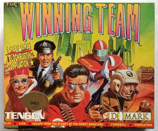 Amiga 500 - Winning Team compilation of 5 games: Escape from the Planet of the Robot Monsters, Cyberball, Klax, Vindicators, A.P.B.