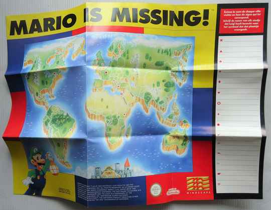 Super Nintendo - Mario Is Missing! | map (HOL)