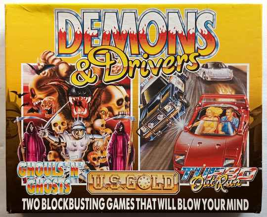 Amiga 500 - Demons & Drivers compilation of 2 games: Ghouls 'n' Ghosts, Turbo OutRun