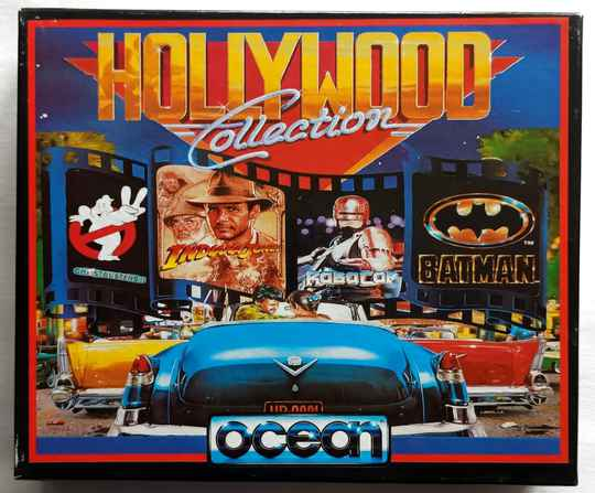 Amiga 500 - Hollywood Collection compilation of 4 games: Ghostbusters II, Indiana Jones and the Last Crusade, Robocop, Batman the Movie
