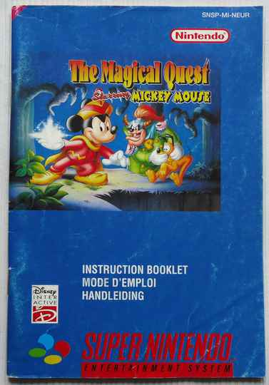 Super Nintendo - Magical Quest Starring Mickey Mouse, The | instruction booklet (NEUR)
