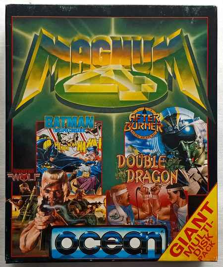 Amiga 500 - Magnum 4 compilation of 4 games: Batman: The Caped Crusader, After Burner, Operation Wolf, Double Dragon