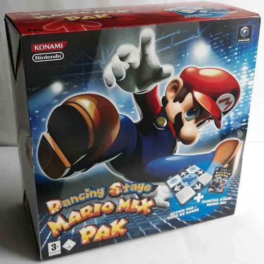Gamecube - Dancing Stage Mario Mix w/ Action Pad (PAL)