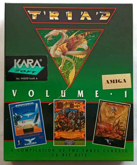 Amiga 500 - Triad Volume 1 compilation of 3 games: Starglider, Barbarian, Defender of the Crown