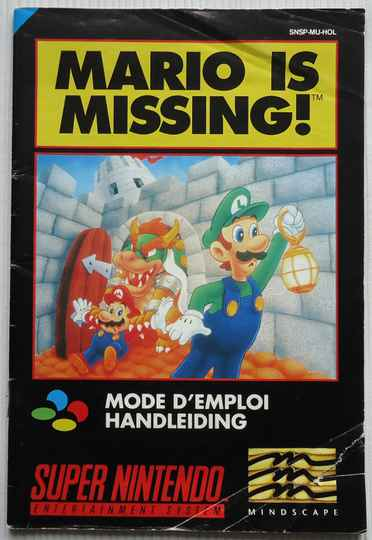 Super Nintendo - Mario Is Missing! | instruction booklet (HOL)