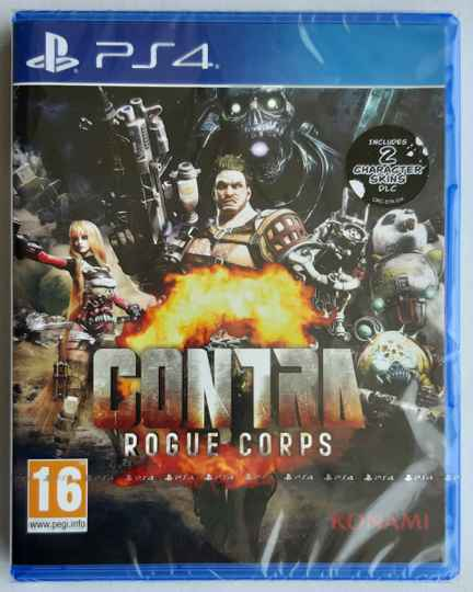 PS4 - Contra: Rogue Corps + 2 Character Skins DLC (PAL) factory sealed