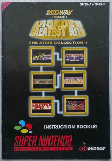 Super Nintendo - Arcade's Greatest Hits: The Atari Collection 1 | instruction booklet (EUR)