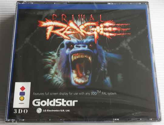 3DO - Primal Rage (region free) factory sealed (small crack)