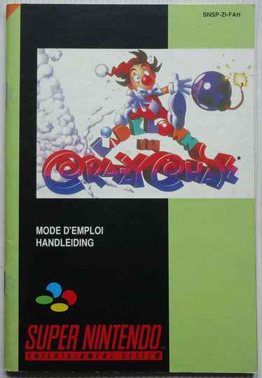 Super Nintendo - Kid Klown's Crazy Chase | instruction booklet (FAH)