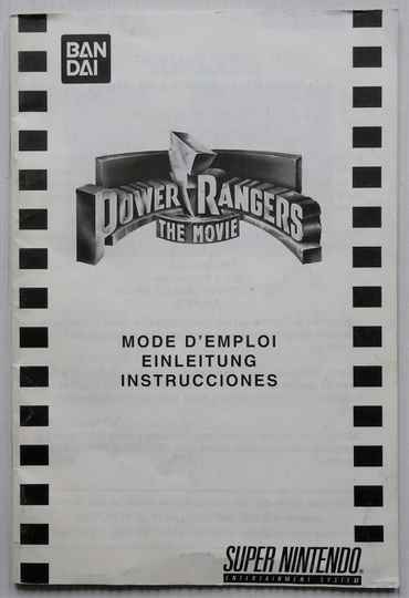 Super Nintendo - Power Rangers: The Movie | instruction booklet
