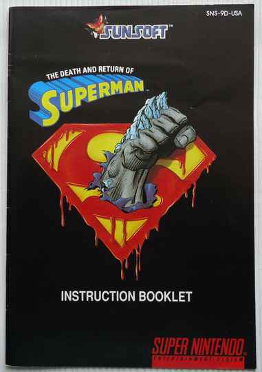 Super Nintendo - Death and Return of Superman, The | instruction booklet (USA)