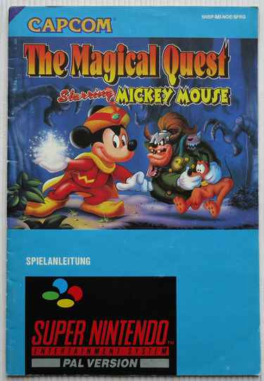 Super Nintendo - Magical Quest Starring Mickey Mouse, The | instruction booklet (NOE)