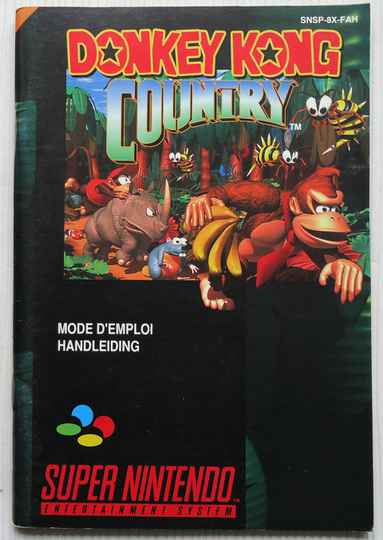 Super Nintendo - Donkey Kong Country | instruction booklet (FAH)