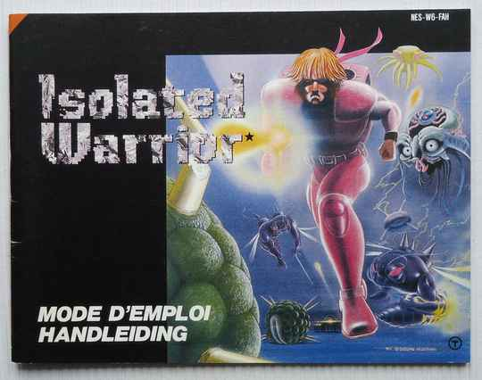NES - Isolated Warrior   instruction booklet (FAH)