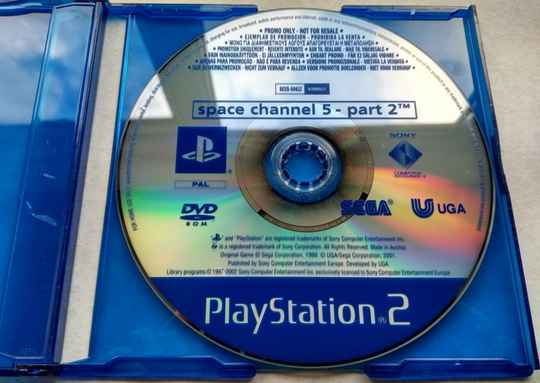 PS2 - Space Channel 5 Part 2 - promo disc (PAL, full version)