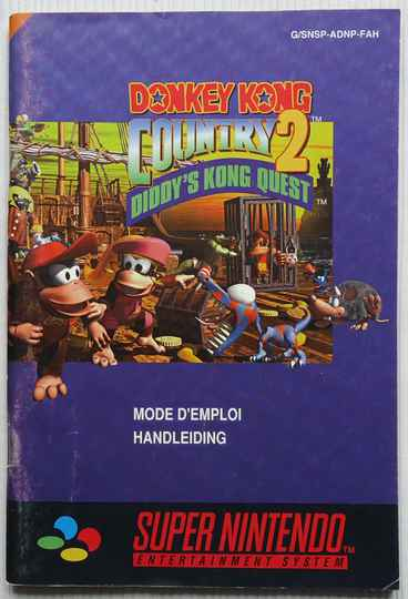 Super Nintendo - Donkey Kong Country 2: Diddy's Kong Quest | instruction booklet (FAH)