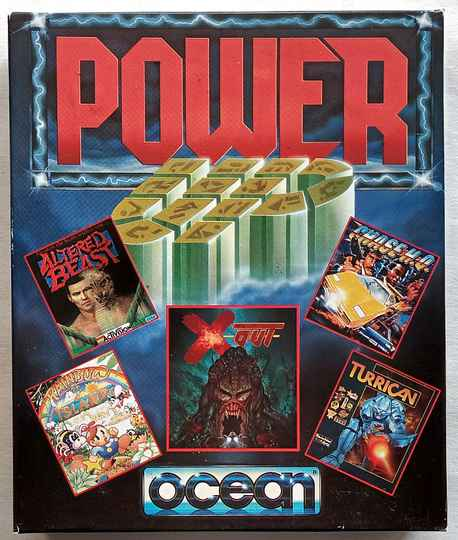 Amiga 500 - Power Up compilation of 5 games: Turrican, X-Out, Rainbow Islands, Altered Beast, Chase H.Q.