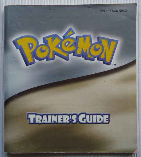 Game Boy Color - Pokemon Trainer's Guide (Silver/Gold Version) | instruction booklet (NHAU) very good