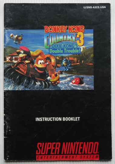 Super Nintendo - Donkey Kong Country 3: Dixie Kong's Double Trouble! | instruction booklet (USA)
