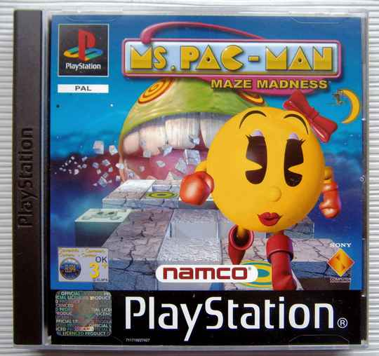 PS1 - Ms. Pac-Man Maze Madness (PAL) new old stock