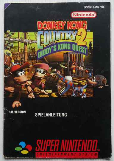 Super Nintendo - Donkey Kong Country 2: Diddy's Kong Quest | instruction booklet (NOE)