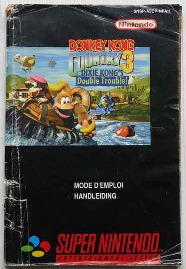 Super Nintendo - Donkey Kong Country 3: Dixie Kong's Double Trouble! | instruction booklet (FAH)