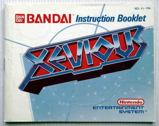 NES - Xevious   instruction booklet (FRA)