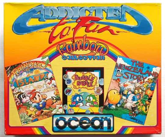 Amiga 500 - Rainbow Collection compilation of 3 games: Bubble Bobble, Rainbow Islands, New Zealand Story