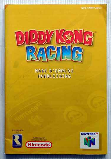 Nintendo 64 - Diddy Kong Racing | instruction booklet (NFAH)