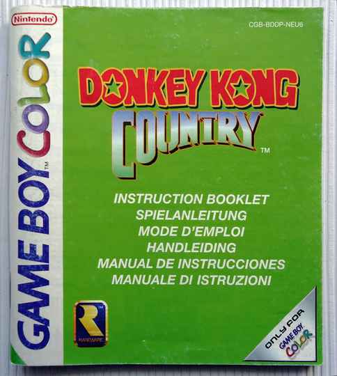 Game Boy Color - Donkey Kong Country | instruction booklet (NEU6)