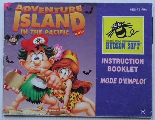 NES - Adventure Island Classic: In the Pacific   instruction booklet (FRA)