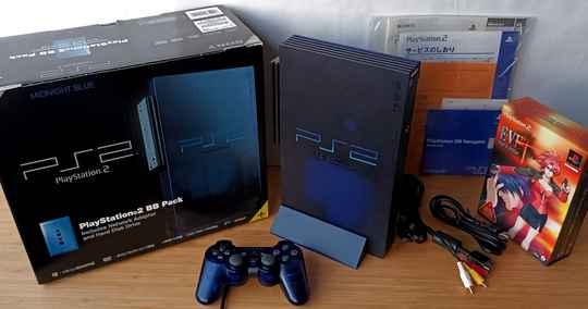 PS2 - Console Midnight Blue SCPH-50000 MB/NH w/ game (NTSC-J)