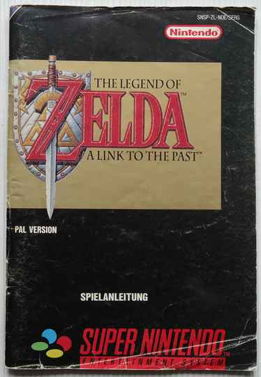 Super Nintendo - Legend of Zelda, The: A Link to the Past | instruction booklet (NOE) cover fair