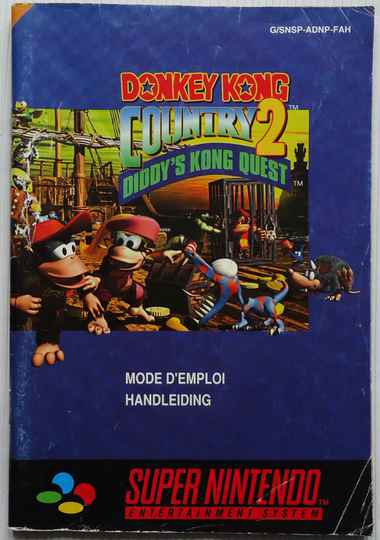 Super Nintendo - Donkey Kong Country 2: Diddy's Kong Quest | instruction booklet (FAH) cover fair