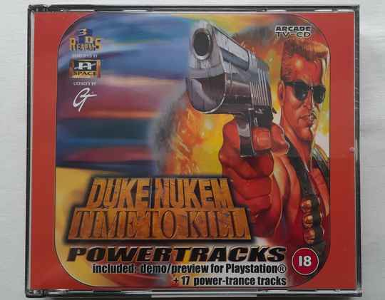 PS1 - Duke Nukem: Time to Kill Demo (PAL) with Power Tracks audio cd (factory sealed)