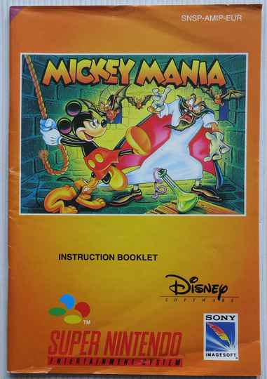 Super Nintendo - Mickey Mania | instruction booklet (EUR)