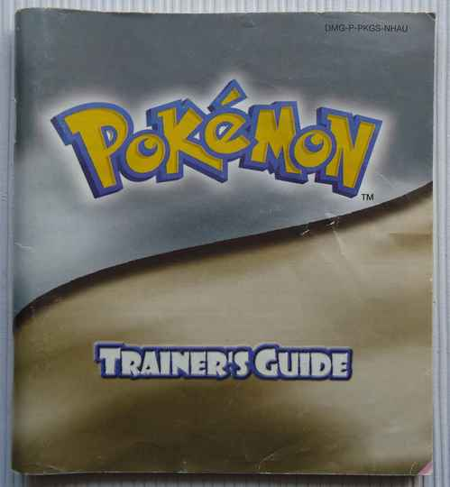 Game Boy Color - Pokemon Trainer's Guide (Silver/Gold Version) | instruction booklet (NHAU) fair to good