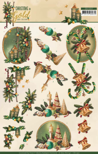 Christmas in Gold - Amy Design