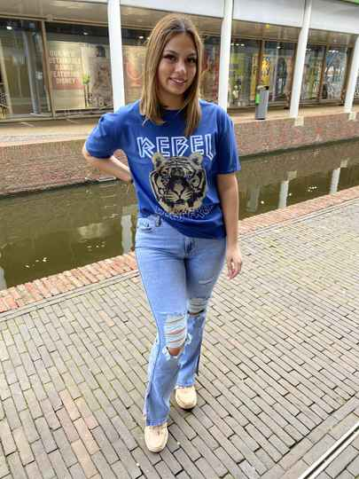 Rebel t shirt blauw