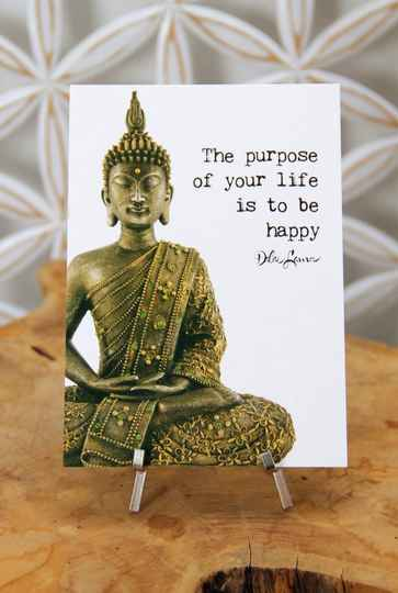 """Postkaart """"The purpose of your life..."""""""
